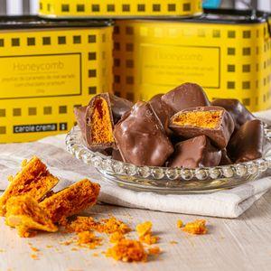 Pepitas de Ouro - Bombons de Honeycomb e Chocolate Belga (150g)