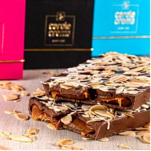 Barra de Chocolate Belga e Caramelo